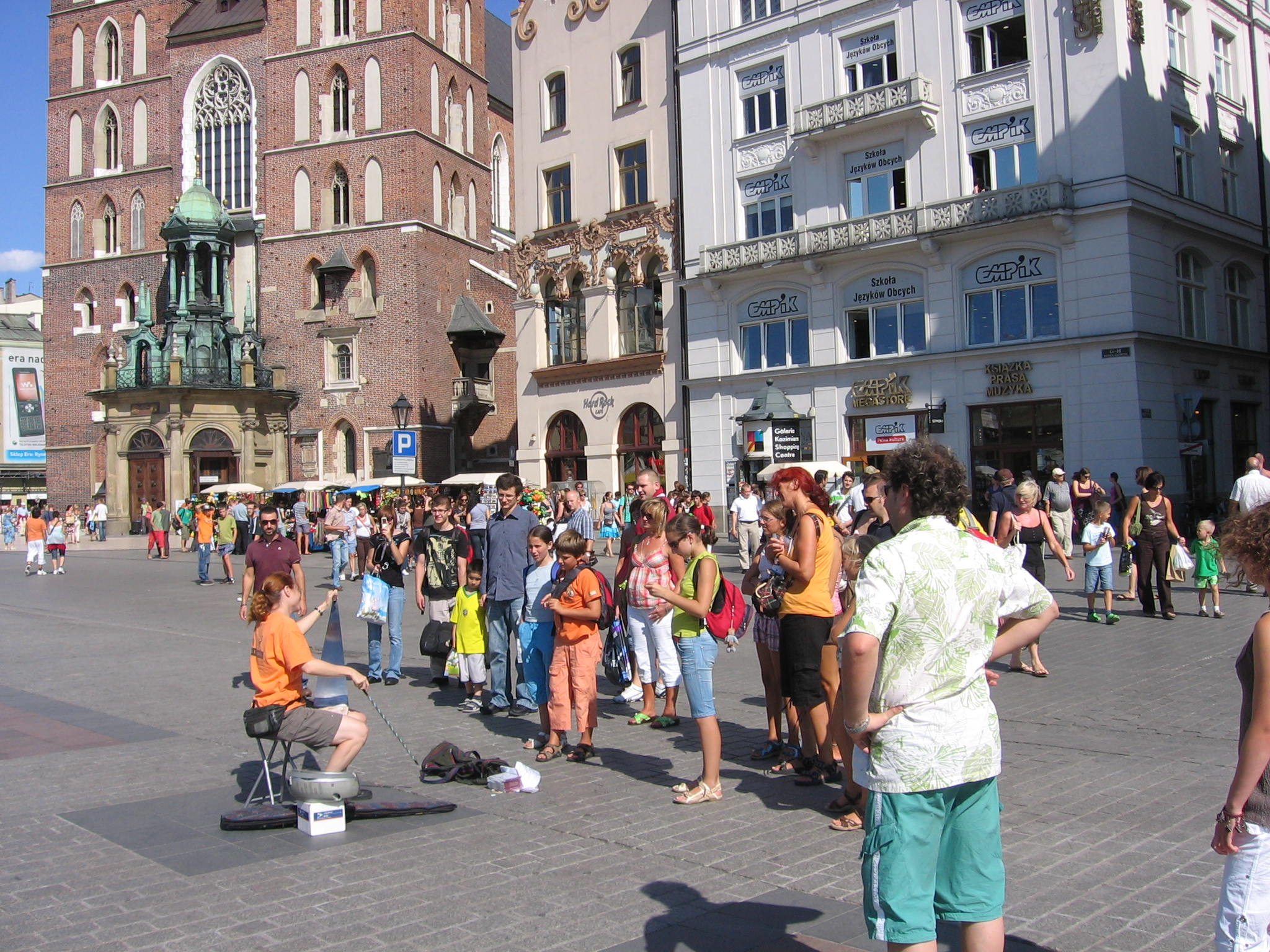 busking in Krakow