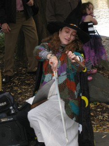 Central Park musical saw playing witch